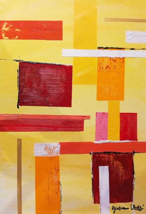 """Painting titled """"Patchwork"""" by Giuliana Ucelli, Original Art, Acrylic"""