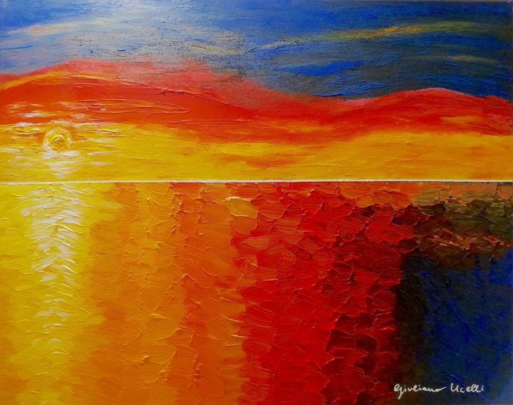 """Painting titled """"Redness"""" by Giuliana Ucelli, Original Art, Acrylic"""