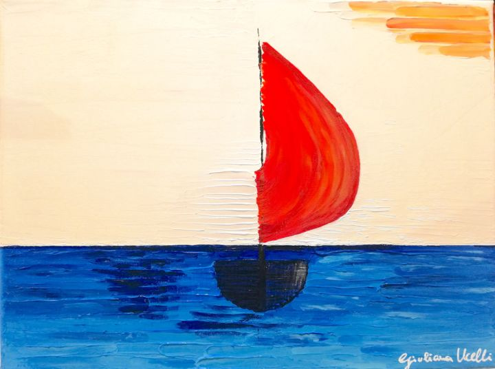 """Painting titled """"Boat Pop"""" by Giuliana Ucelli, Original Art, Acrylic"""