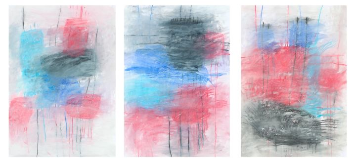 """""""Tell us what have you seen"""" - Painting,  39.4x82.7 in ©2019 by Giulio Benatti -                                                                                Abstract Art, Abstract Expressionism, Conceptual Art, Contemporary painting, Abstract Art, Giulio Benatti, paintings"""
