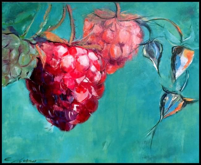 frambise - Painting,  50x60 cm ©2012 by gleisner -                            Contemporary painting, FRAMBOISE, PEINTURE