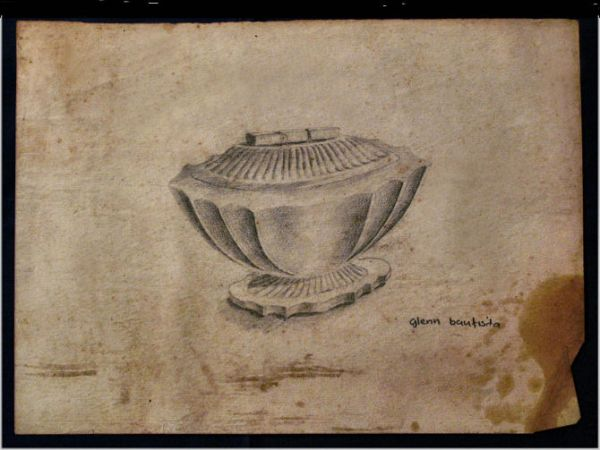 """Drawing titled """"A Marble Object '63"""" by Glenn Bautista, Original Art,"""