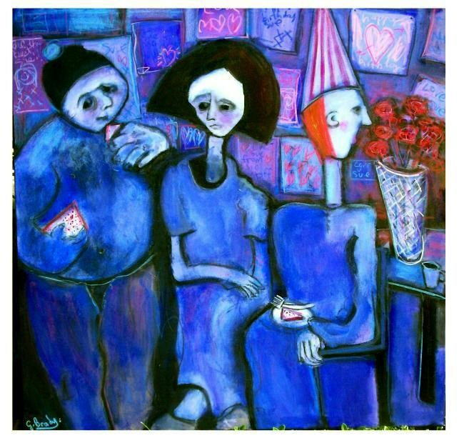 the patients birthday - Malerei,  39,4x47,2 in, ©2008 von Glenn Brady -
