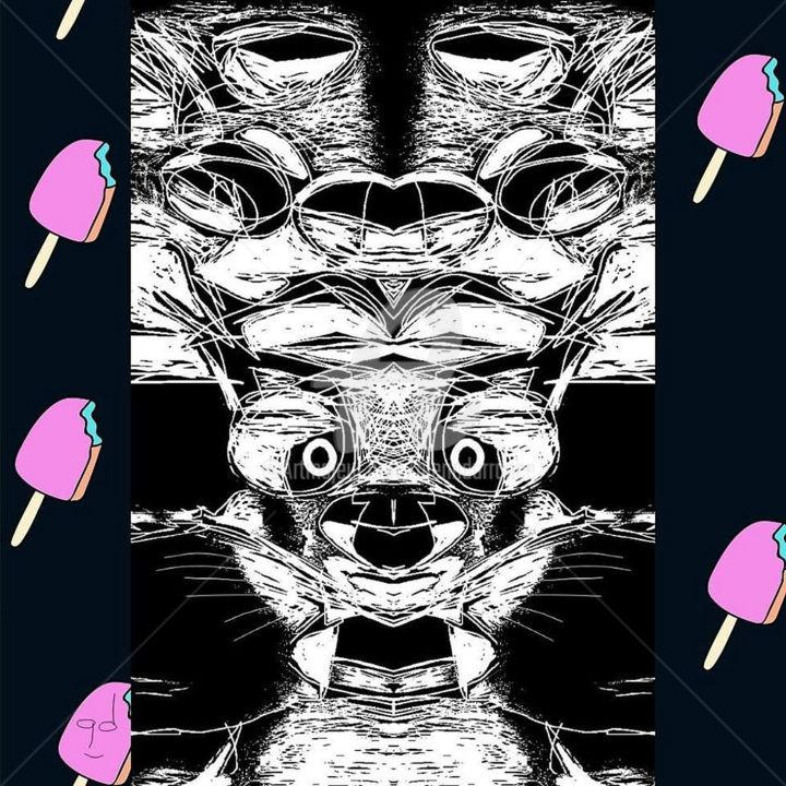 I Scream, You Scream... - Digital Arts, ©2018 by Glenn Durrance -                                                                                                                                                                                                                                                                                                                                                                                                                                                                                                                                                                                                                                                                                                                                                                                                                                                                                                                                                                                                                                                                                                                                                                                                                                      Abstract, abstract-570, Other, Abstract Art, Animals, Black and White, Iscream, youscream, weallscream, foricecream, digitaldrawing, dog, digitalcollage, glenndurrance.com, glenndurrancegoogleimages, glenndurrancebingimages, glenndurranceartmajuer, GlennDurranceArtist, glenndurranceinstagram, glenndurrancetwitter, glenndurrancefacebook, glenndurranceonlineville, glenndurrancephoenixAZartist, glenndurraneonlineartgalleries, glenndurranceyoutube, glenndurranceunderthebridge