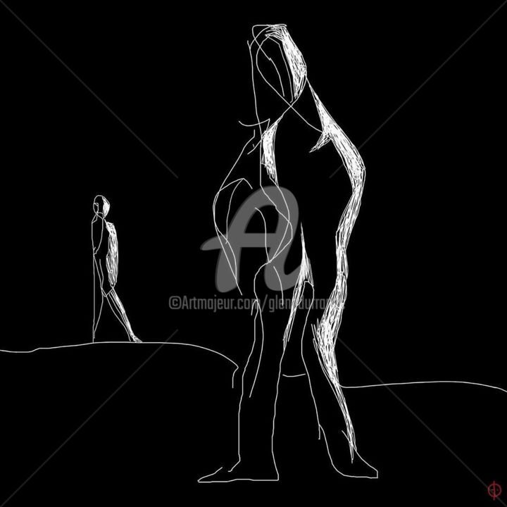 The Other - Digital Arts, ©2019 by Glenn Durrance -                                                                                                                                                                                                                                                                                                                                                                                                                                                                                                                                                                                                                                                                                                                                                                          Figurative, figurative-594, Abstract Art, Black and White, Light, People, Digitaldrawing, digitalskectch, glenndurranceartmajeur, glenndurrance.com, theother, glenndurranceonlinegalleries, orderhighqualityprintsonline, virtualartmuseums, virtualartgalleries, fineartprintsavailable