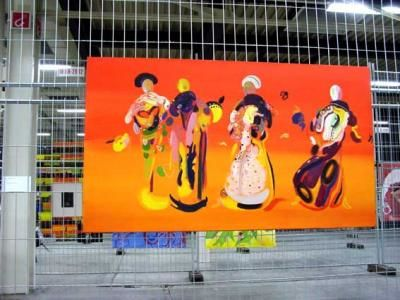 Quattro - Eggtemper on Canvas 120 x 200 cm (sold)