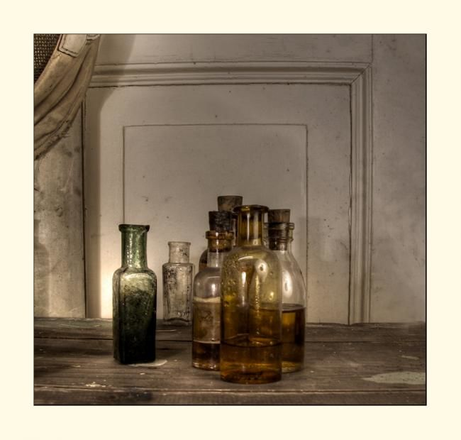 Bottles Ab - Photography,  30x30 cm ©2011 by rob arbouw -            bottles, still lfe