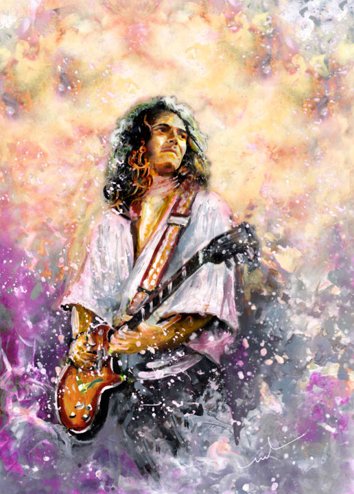 Tommy Bolin - ©  Tommy Bolin, rock, Deep Purple, guitarist Online Artworks