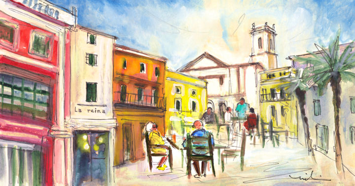 Architecture Painting, gouache, expressionism, artwork by Miki De Goodaboom