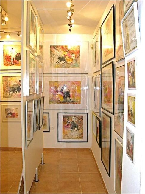 October 2008, My New Gallery in Turre - The Labyrinth - Events / Personal Photos, ©2008 by Miki de Goodaboom -                                                                                                                                                                                                                                                                                                                                                                                                                                                                                                                      toros, paintings, aquarelle, painting, bullfighting art, pinturas taurinas, watercolour, acuarela, bullfighter portraits, acrylics, gouache