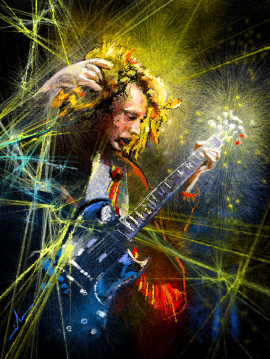 Ac Dc Art : Angus young by miki de goodaboom