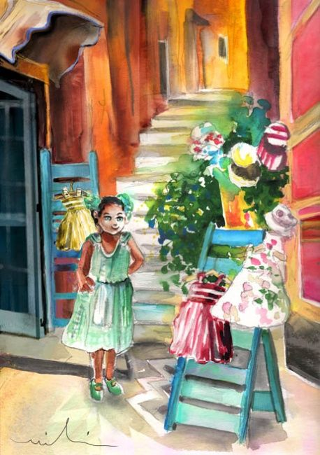 """Painting titled """"Welcome to Italy 03"""" by Miki De Goodaboom, Original Art, Oil"""