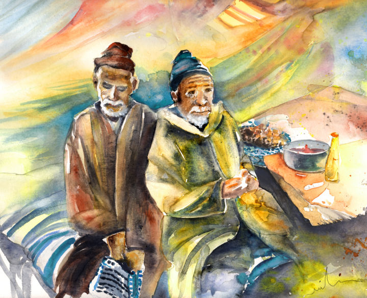 Image of: Old Woman Collect This Art Together Old In Morocco 02 2012 Painting 2019 Artmajeur Together Old In Morocco 02 Painting By Miki De Goodaboom Artmajeur