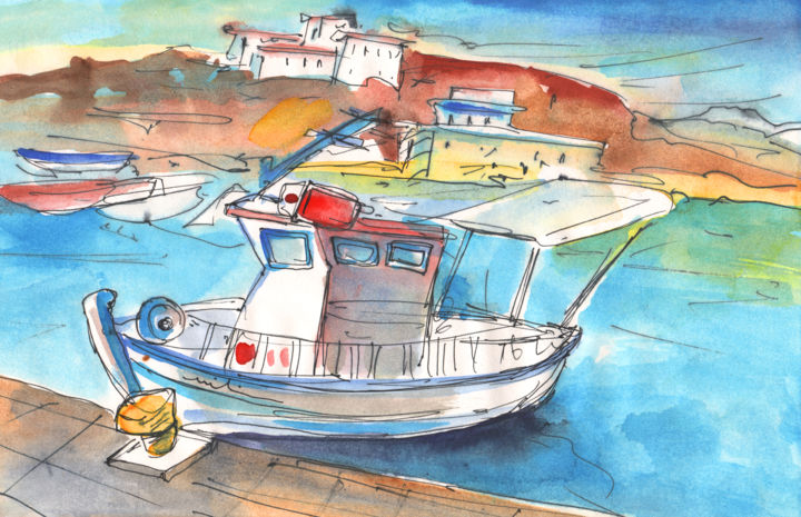 Boat in agia galini 01 miki de goodaboom for Fishing boat painting