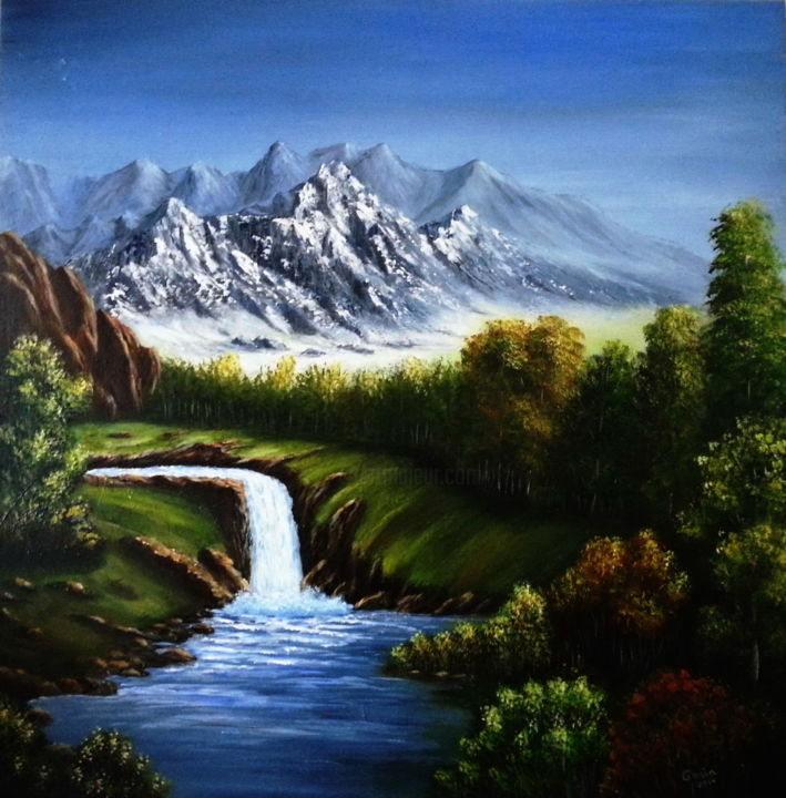 Mountains 2 - Painting ©2015 by Malgorzata Kuraczyk -