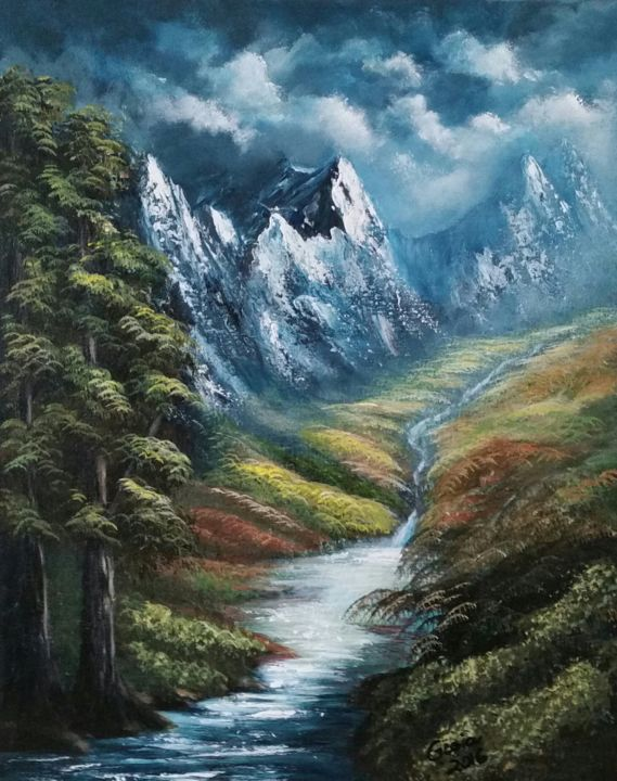 River in the mountains - ©   Online Artworks