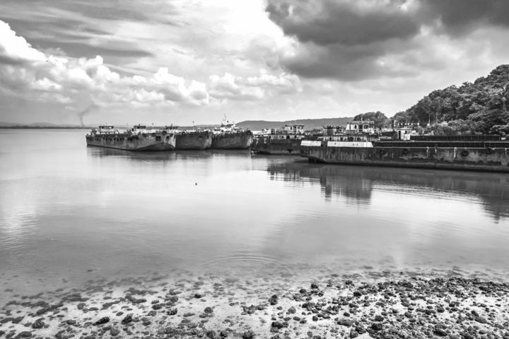 """Photography titled """"Cloud & Waters of G…"""" by Goutam Chakraborty, Original Art, Digital Photography"""