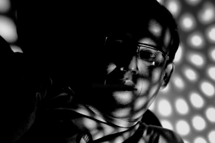 Your existence oscillates between light & shadow! - Photography, ©2014 by Goutam Chakraborty -                                                                                                                                                                                                                                                                      Figurative, figurative-594, Portraits, Goutam Chakraborty, Black and White