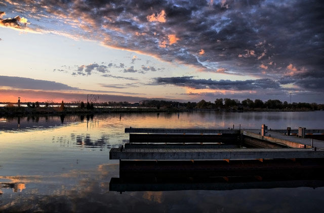 """Photography titled """"Docks at Orillia"""" by Gracey, Original Art,"""