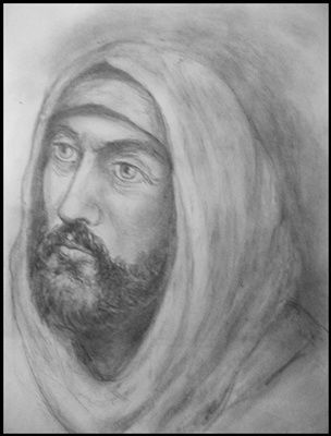 """Drawing titled """"Isus"""" by Victor Covaliov, Original Art,"""