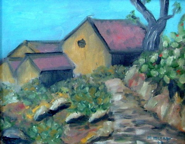 Paysage Kabyle Painting By Micheline Ménager Artmajeur
