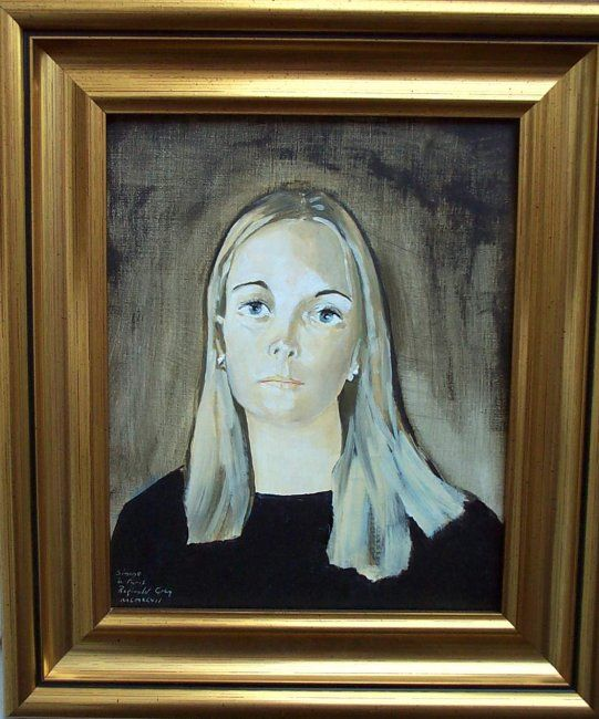 Portrait of Simone    (collection City of York Art Gallery. UK.) - Painting, ©1996 by Reginald Gray -