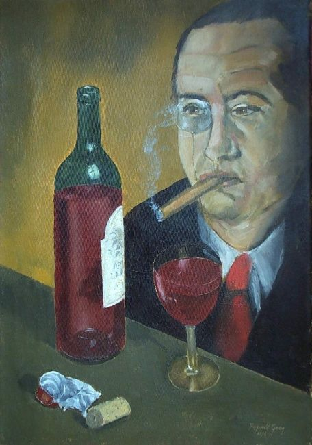 ``The Director`` - Painting ©1999 by Reginald Gray -