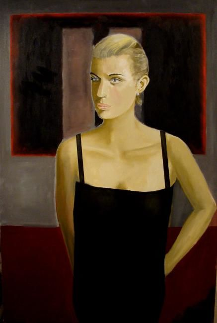 """Katy in front of Rothko"" - Painting,  61x91 cm ©2008 by Reginald Gray -"