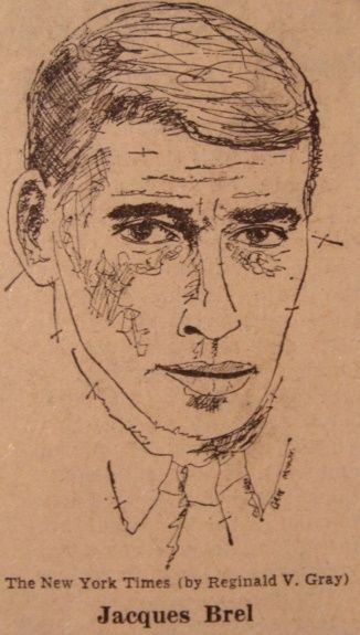 Portrait of Jacques Brel - Painting ©1965 by Reginald Gray -