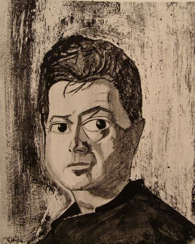 Portrait from life of Francis Bacon 1960 (Collection National Portrait Gallery London) - Painting ©1960 by Reginald Gray -