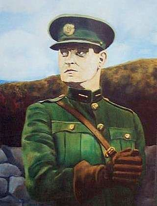 Homage to Michael Collins (Collection AIB Bank. Cork. Ireland) - Painting ©1989 by Reginald Gray -