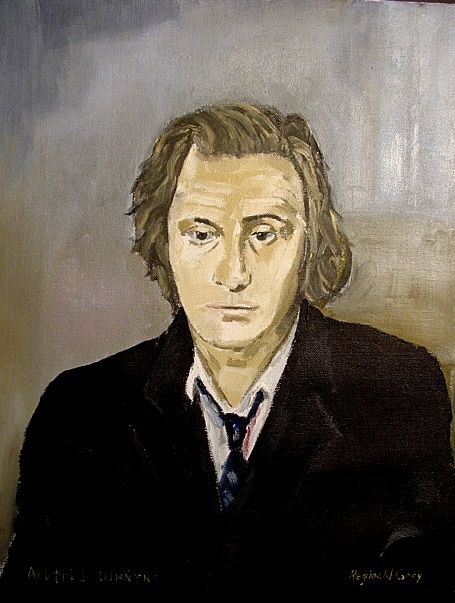 Second Portrait of Russian Composer Alfred Schnittke . Collection Royal College of Music. London. - Painting,  46x35 cm ©2009 by Reginald Gray -