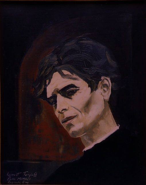 Portrait of the French actor Laurent Terzieff. Paris 1981. - Painting,  10.2x7.5 in, ©2009 by Reginald Gray -
