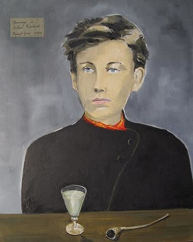 Hommage a Arthur Rimbaud - Painting,  41x33 cm ©2011 by Reginald Gray -