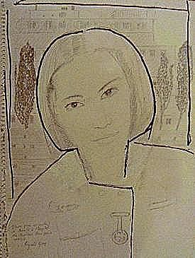 Study of Auerlie. Nurse at Hopital Peupliers. Paris - 绘画 ©2012 Reginald Gray -