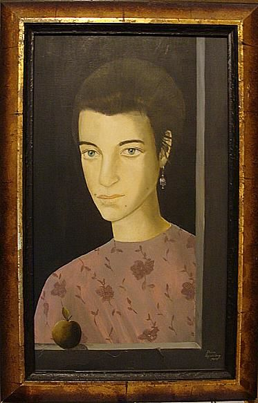Portrait of Doina - Painting,  16.1x10.2 in, ©2001 by Reginald Gray -