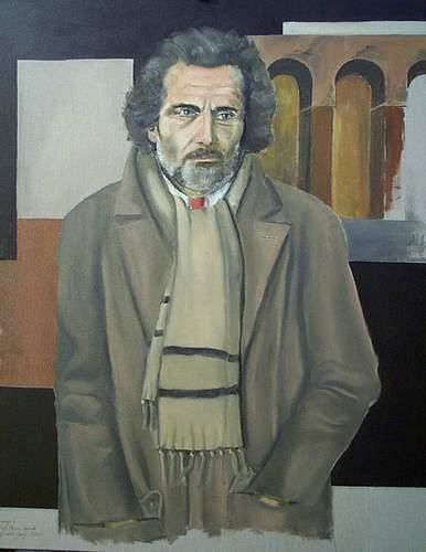 Hommage à Gian Maria Volontè. - Painting ©2002 by Reginald Gray -