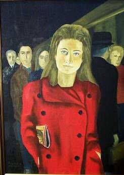 Helene a la Gare - Painting ©1996 by Reginald Gray -