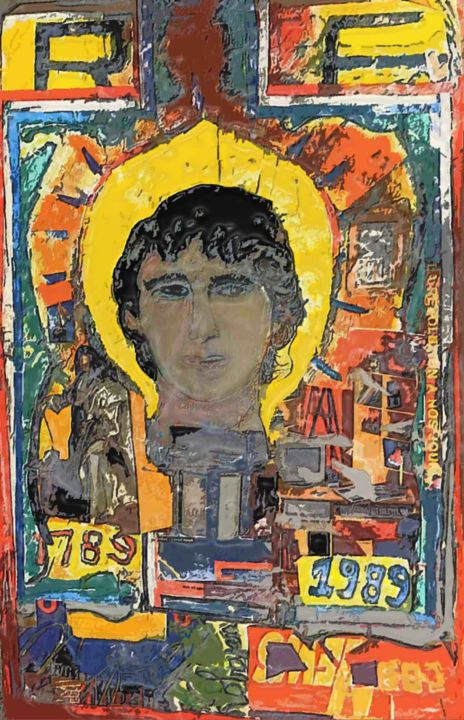 RF 1989 - Mixed Media ©1989 by Grégoire  Cricorps KOBOYAN -                                                                                    Outsider Art, Other, Paper, History, Portraits, Révolution