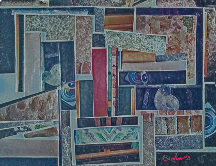 collage - Mixed Media ©1988 by Grégoire  Cricorps KOBOYAN -                                                                    Abstract Art, Other, Paper, Portraits