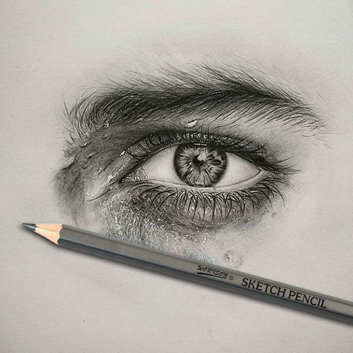 """Painting titled """"Eye Graphite"""" by Jay Greig, Original Art, Pencil"""