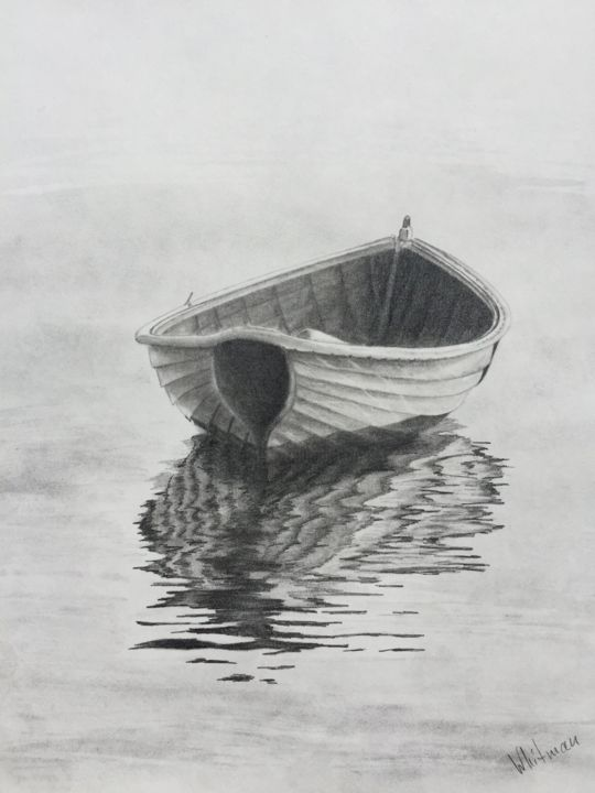 """Painting titled """"Boat"""" by Jay Greig, Original Art, Graphite"""