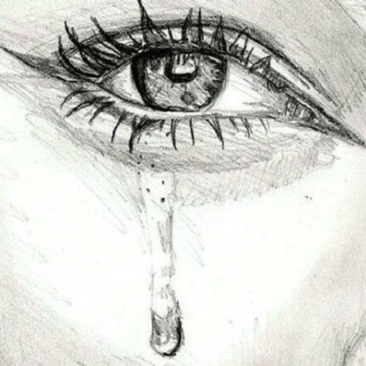 """Painting titled """"Crying Eye Graphite"""" by Jay Greig, Original Art, Graphite"""