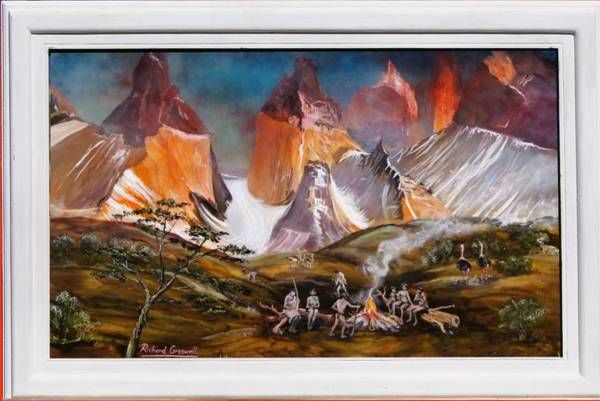 """Painting titled """"Torres del Paine"""" by Richard Greswell, Original Art, Acrylic"""