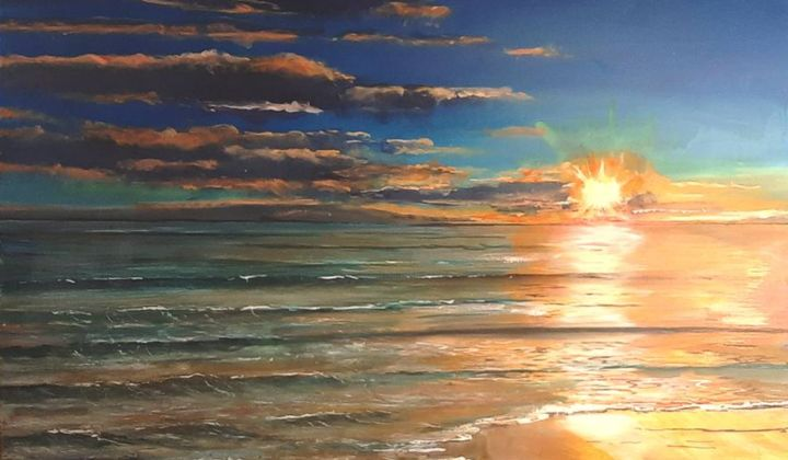 """Painting titled """"ATARDECER Greswell"""" by Richard Greswell, Original Art, Acrylic"""
