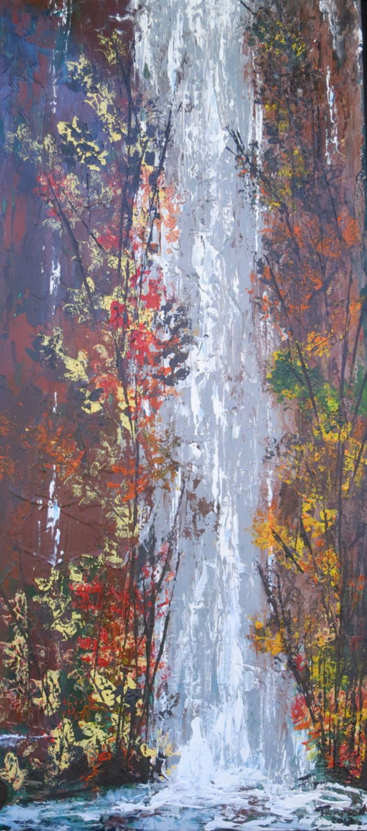 Falling Waters Two 2013 - Painting,  48x23 in ©2013 by James Thompson -