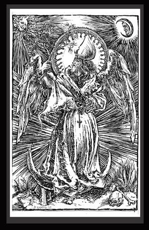Hierophant of Entheogen - Drawing,  18x12 in, ©2009 by G -                                                              Black and White