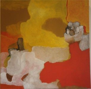 """Painting titled """"rouge"""" by Judith Grunberger, Original Art,"""