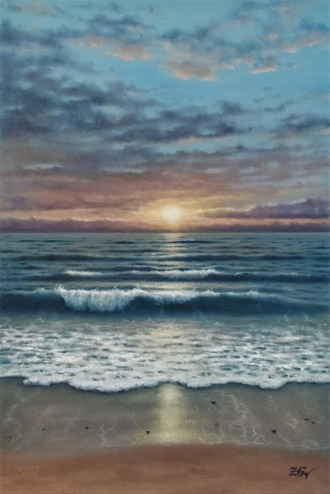 """Painting titled """"''Calm and quiet''."""" by Zigmars Grundmanis, Original Art, Oil"""