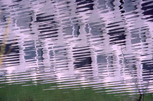 vibrations - Painting,  31.5x196.9 in, ©2006 by Gueda -                                                              nature architecture eau abstrait